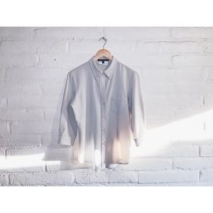 Theory // Bergdorf Goodman Button Blouse Lg